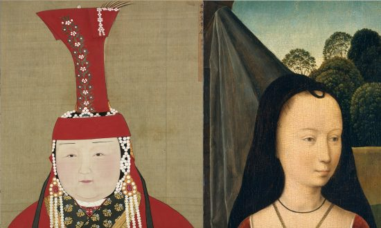 The boghta headdress originate in Mongolia but found echoes in medieval Europe.
