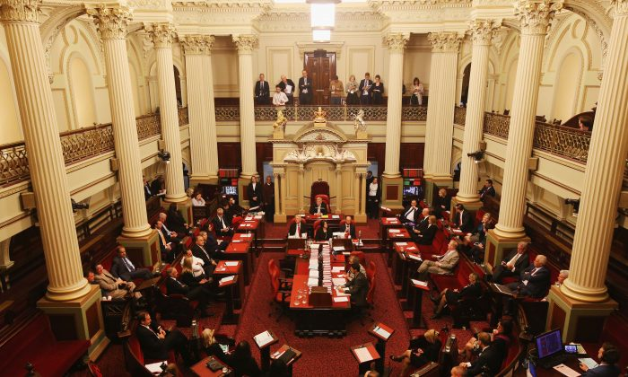 The Parliament of Victoria's upper house on Nov. 3, 2017. in Melbourne, Australia. (Michael Dodge/Getty Images)