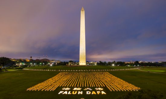 Vigil Lights Up Washington Monument With Memory of Those Killed for Their Faith in China