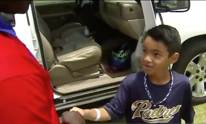 8-Year-Old Boy Meets Off-Duty Paramedic Who Helped Save His Life