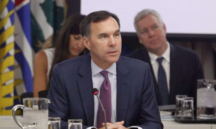 Finance Minister Bill Morneau at a meeting with provincial and territorial finance ministers in Ottawa on June 26, 2018. (The Canadian Press/Patrick Doyle)