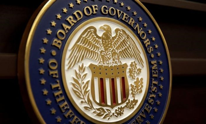 The seal for the Board of Governors of the Federal Reserve System is displayed in Washington, on June 14, 2017.   (REUTERS/Joshua Roberts/File Photo)
