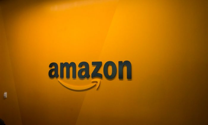 SEATTLE, WA - JUNE 16: An Amazon logo is seen inside the Amazon corporate headquarters on June 16, 2017 in Seattle, Washington.  (Photo by David Ryder/Getty Images)