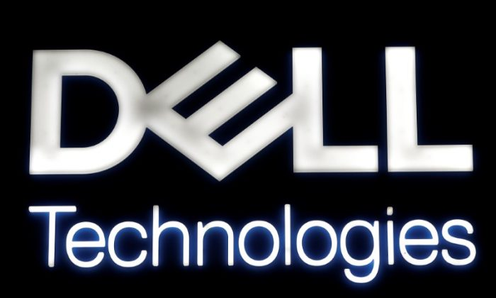 A logo of Dell Technologies is seen at the Mobile World Congress in Barcelona, Spain Feb. 28, 2018. (REUTERS/Yves Herman)