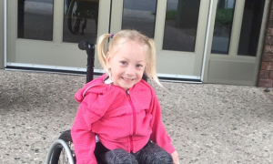 Little girl with cerebral palsy her whole life walks unassisted for first time after surgery