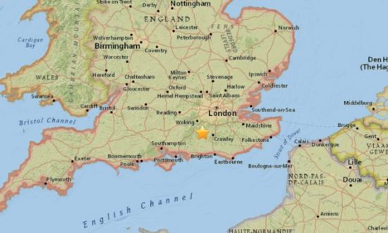 Small Earthquake Reported Near UK's Gatwick Airport