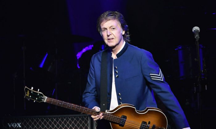 Paul McCartney in concert at American Airlines Arena on July 7, 2017, in Miami, Fla. (Gustavo Caballero/Getty Images)
