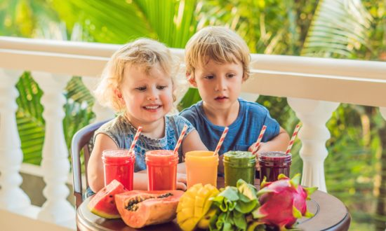If it's a struggle to get your kids to drink enough water, a fruit smoothie is a great way to keep them hydrated without their even realizing it.