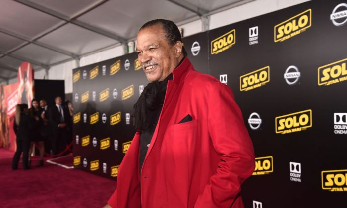 HOLLYWOOD, CA - MAY 10:  Billy Dee Williams attends the world premiere of Solo: A Star Wars Story in Hollywood on May 10, 2018. (Photo by Alberto E. Rodriguez/Getty Images for Disney)
