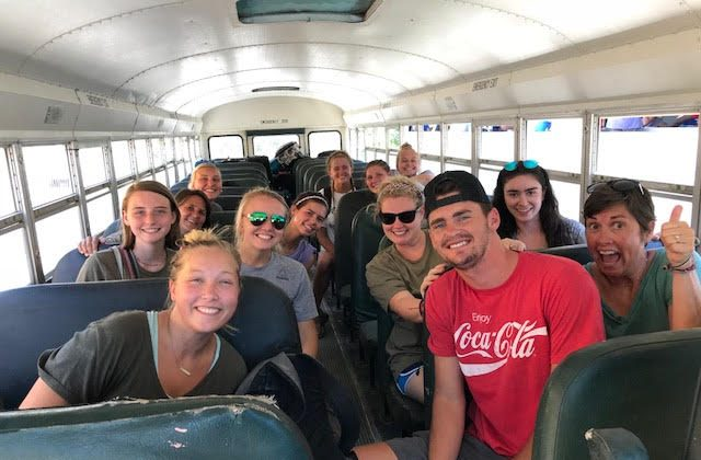 The 13 member missionary team from the Chapin United Methodist Church traveling in Haiti. (Courtesy of Emily Wheaton)