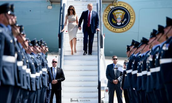 Trump Arrives in the UK for First Visit as US President