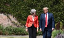 Trump and May Affirm Close Ties After 'Fake News' Tabloid Interview