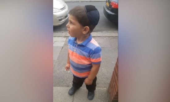 Little Boy Eagerly Awaits Trump's Visit to London