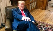 Photo: President Trump Sits in Winston Churchill's Chair