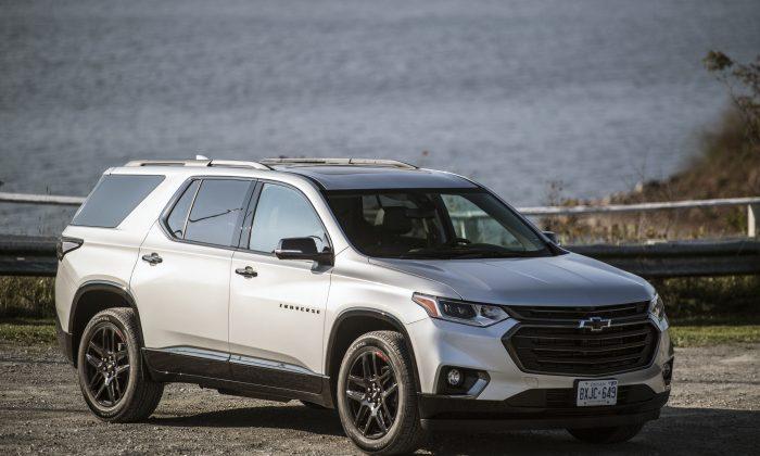 2018 Chevrolet Traverse. (Courtesy of GM Canada)
