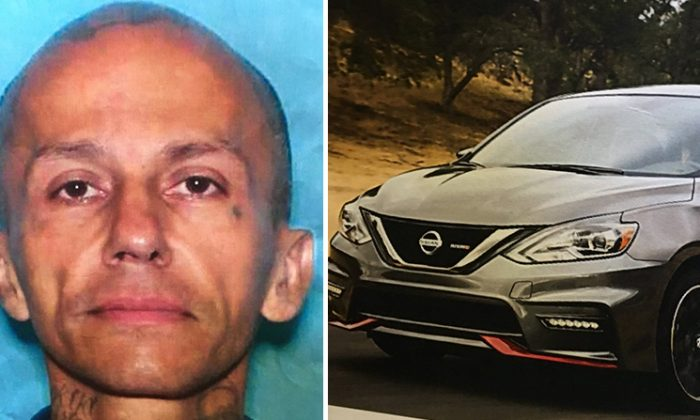 Forty-six-year-old Jose Gilberto Rodriguez was in the dark gray Nissan when he was arrested on July, 17, 2018. (Harris County Sheriff's Office)
