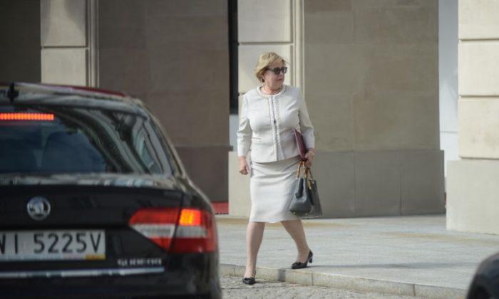 Polish Supreme Court Chief Malgorzata Gersdorf leaves the Presidential Palace after a meeting with Polish President Andrzej Duda in Warsaw, Poland July 3, 2018. (Agencja Gazeta/Maciej Jazwiecki via Reuters/File Photo)