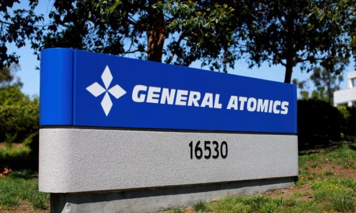 The sign at a General Atomics office complex is shown in Rancho Bernardo, California May 12, 2016.   (REUTERS/Mike Blake/File Photo)