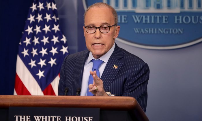 White House National Economic Council Director Larry Kudlow holds a news briefing in the Brady Press Briefing Room at the White House in Washington, DC on June 6, 2018. (Chip Somodevilla/Getty Images)