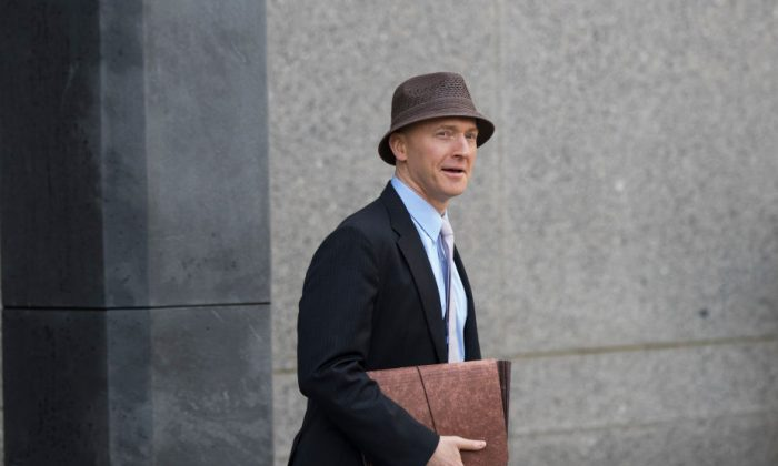 Carter Page arrives at the courthouse at the United States District Court Southern District of New York, April 16, 2018 in New York City. (Drew Angerer/Getty Images)