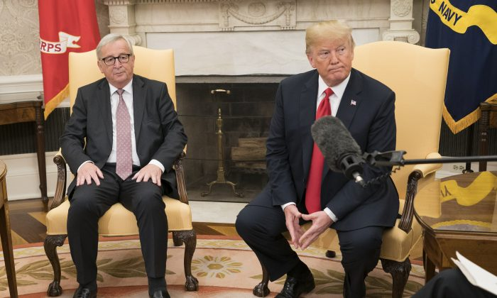 Trump and European Union  officials strike 'zero tariff' deal to avert trade war