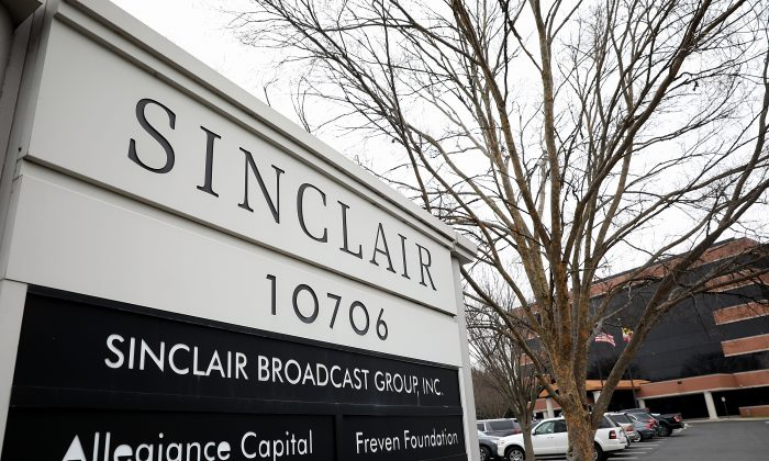 The headquarters of the Sinclair Broadcast Group in Hunt Valley, Md., on April 3, 2018. (Win McNamee/Getty Images)