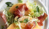 Melón con Jamón: Melon with Iberian Ham and Fresh Herbs