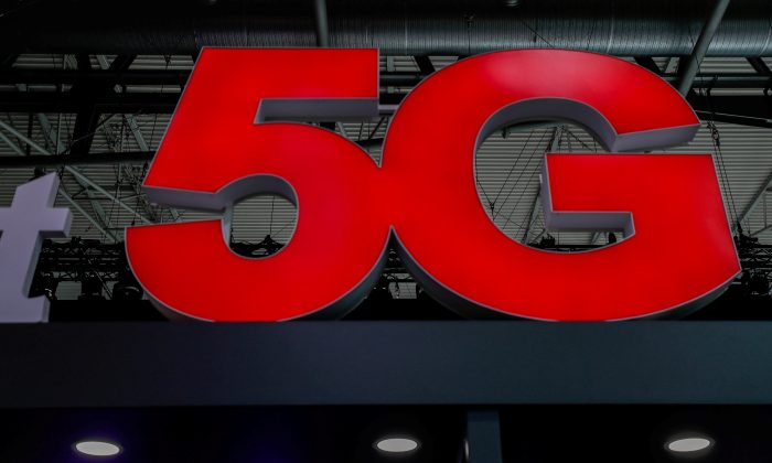 A 5G sign is seen during the Mobile World Congress in Barcelona, Spain February 28, 2018. (REUTERS/Yves Herman/File Photo)