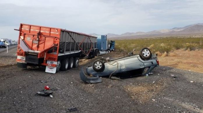 Accident on Nevada highway on July 18, 2018. (Nevada Highway Patrol)