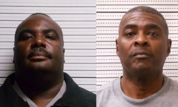 Southport Police Chief Gary Smith, left, and second-in-command Michael Simmons. (Brunswick County Jail)