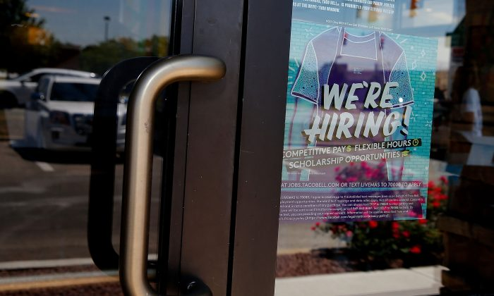 Taco Bell signage at Taco Bell Hiring Party on July 18, 2018 in Indianapolis, IN.  (Michael Hickey/Getty Images for Taco Bell)