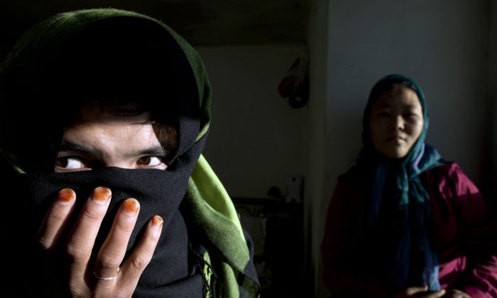 File photo of a 17-year-old woman at a women's shelter and safe house in Bamiyan, Afghanistan. She was forced to marry at age 11, and ran away after five years. (Paula Bronstein/Getty Images)