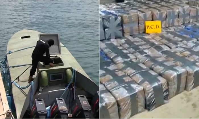 Costa Rica seizes over two tonnes of cocaine from narco-submarine on August 2, 2018. (Reuters/Costa Rican Public Security Ministry Handout)