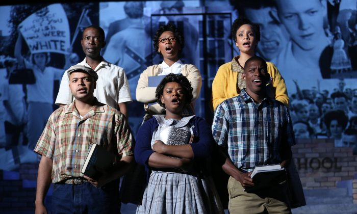 """The cast of """"Little Rock,"""" a new musical, now at New York's Sheen Center for Culture and Thought. (Carol Rosegg)"""