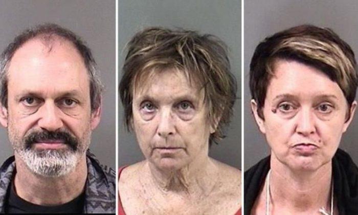 Jason Wallach, 49, Kate Brenner, 69, and Kristen Edith Koster, 50, were arrested in Berkeley. (Berkeley Police Department)