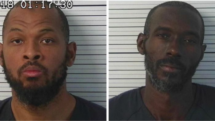 Siraj Wahhaj (L),and Lucas Morten, after being arrested on Aug. 4, 2018. (Taos County Sheriff's Office)