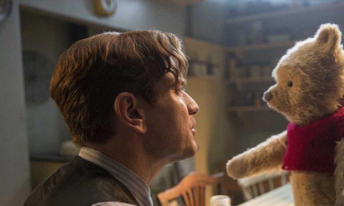 "Ewan McGregor in a scene from ""Christopher Robin."" (Laurie Sparham/Disney via AP)"