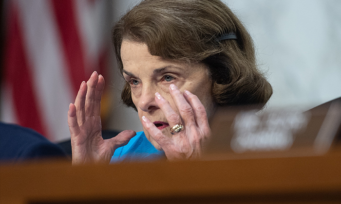 U.S. Sen. Dianne Feinstein (D-Calif.) speaks during a Senate Intelligence Committee confirmation hearing on Capitol Hill in Washington, DC, on July 25, 2018. (NICHOLAS KAMM/AFP/Getty Images)