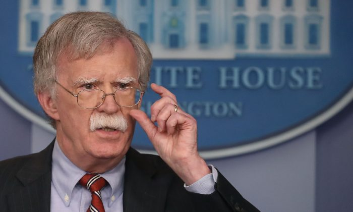 National Security Advisor John Bolton at the White House on Aug. 2 2018