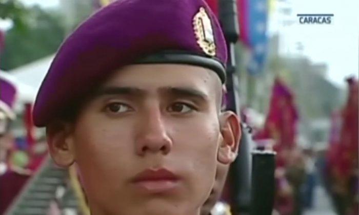Young Venezuelan soldier, on August 7, 2018. (Reuters)