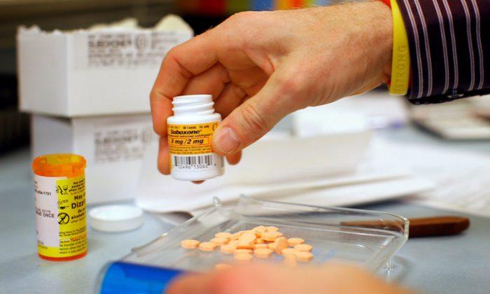 A pharmacist fills a Suboxone prescription at Boston Healthcare for the Homeless Program in Boston, Massachusetts Jan. 14, 2013. (REUTERS/Brian Snyder)