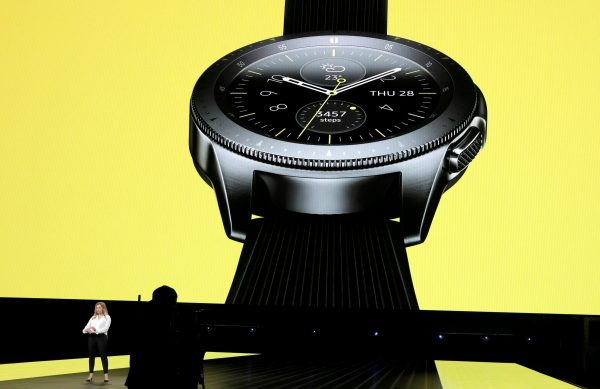 Samsung Galaxy Watch unveiled during a product launch event.