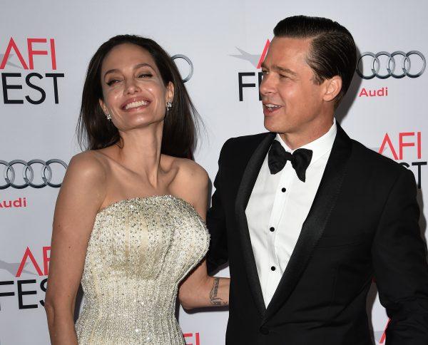 Angelina Jolie Pitt and Brad Pitt arrive at AFI FEST 2015.