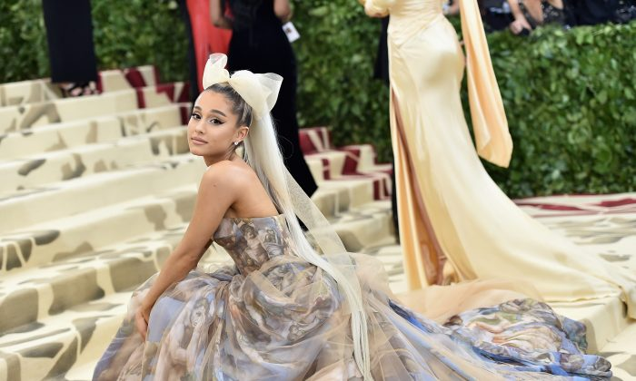 Ariana Grande attends the Heavenly Bodies: Fashion & The Catholic Imagination Costume Institute Gala at The Metropolitan Museum of Art on May 7, 2018 in New York City. (Photo by Jason Kempin/Getty Images)