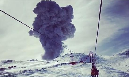 Film Director Videos Volcano Erupting Before His Eyes