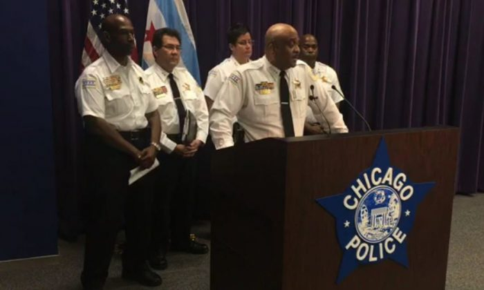 Chicago Police Chief Eddie Johnson at a news conference on Aug. 10, 2018. (Chicago Police Department)