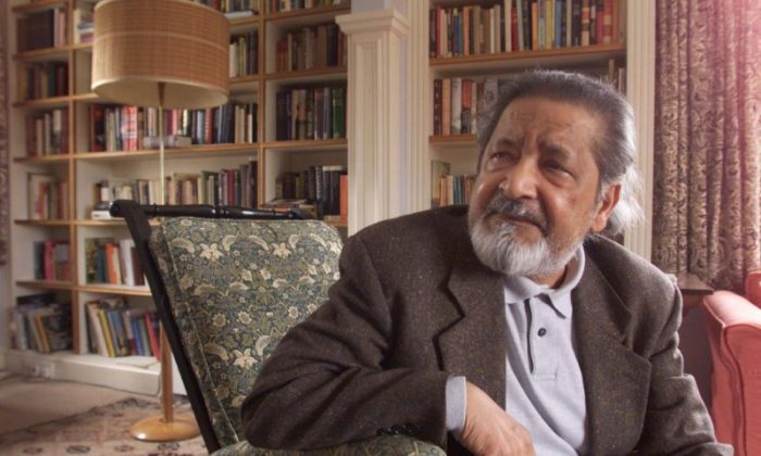 File Photo: British author V.S. Naipaul at his home near Salisbury, Wiltshire,