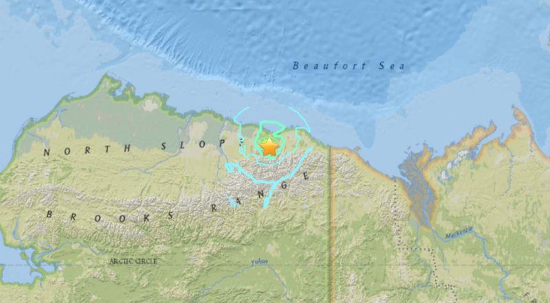 A 6.1 magnitude earthquake struck northern Alaska on Aug. 12 2018