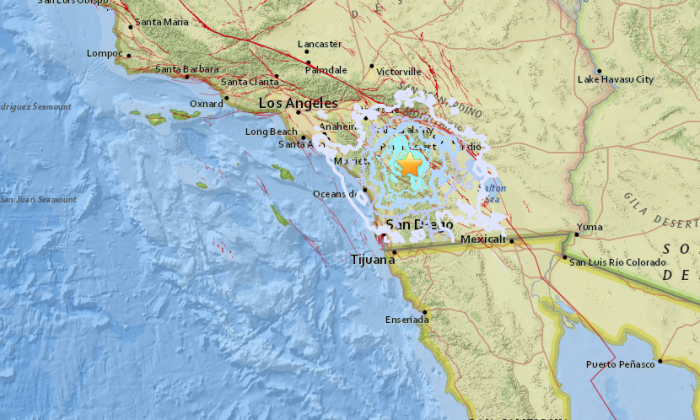 A magnitude 4.4 quake hit Southern California on Aug. 14, 2018. (USGS)