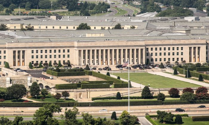 The Pentagon in Arlington, Va., on Aug. 6, 2018. (Charlotte Cuthbertson/The Epoch Times)
